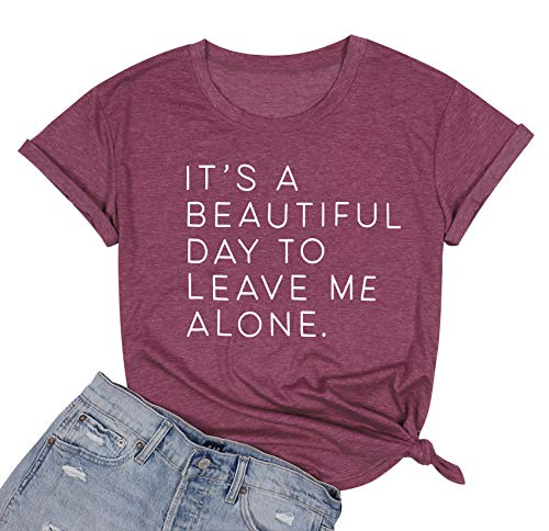 (50% OFF) It's a Beautiful Day to Leave Me Alone T-Shirt $12.99 – Coupon Code