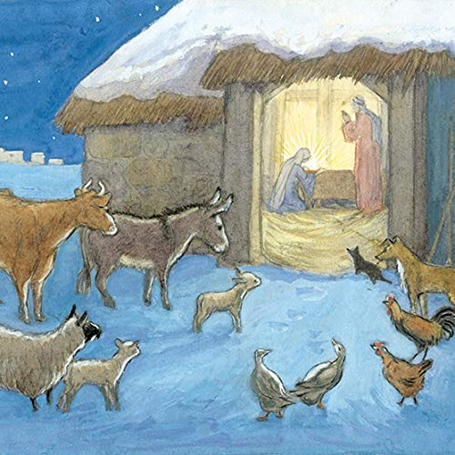 Pack of 8 Artistic Charity Christmas Cards (MG-288918-XAE) - 8 Traditional Cards from Museums & Galleries - The Nativity by Molly Brett - 8 Cards of 1 Design