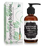 Certified-Organic Supercharged Skin Tightening & Firming Body Lotion | Infused with 20+ powerful plant-extracts to rejuvenate & repair loose skin on stomach/belly and other areas after pregnancy