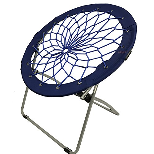 CAMPZIO Bungee Chair Round Bungee Chair Folding Comfortable Lightweight Portable Indoor Outdoor (Royal Blue)