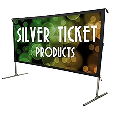 STO-169120 Silver Ticket Indoor/Outdoor 120  Diagonal 16:9 4K Ultra HD Ready HDTV Movie Projector Screen Front Projection White Material with Black Back (STO 16:9, 120)