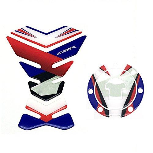 Sticker Decal Gas Fuel Tank Protector Pad + Fuel Gas Tank Cap Protector Pad For Honda CBR RVF VFR CBR 250 400 500 600 1000 1100 CBR1000RR
