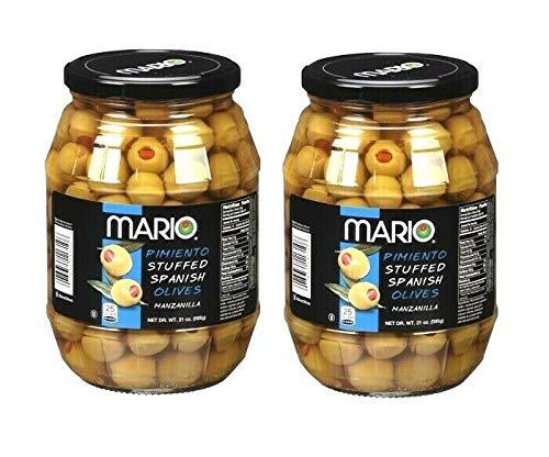 Mario Pimiento Stuffed Spanish Denver Mall Daily bargain sale Olives Manzanilla Pack 2 Jar of -