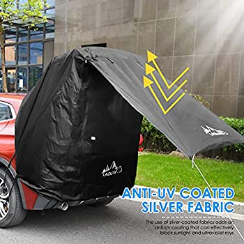 Crtkoiwa Auvent Shelter SUV Tent Car Travel tentAuto Canopy Portable Camper Trailer Tent Roof Top Car Shelter for Beach Hatchback Minivan Sedan Family Camping Outdoor.