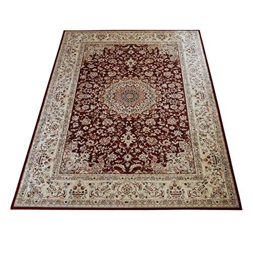 WEBTAPPETI.IT Tapis de salon style oriental classique Silk 2496 NAIN rouge 140 x 200 cm