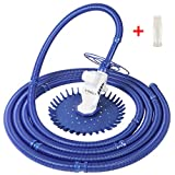 VINGLI Automatic Swimming Pool Vacuum Pool Cleaners with Additional Hoses & Diaphragm Powerful Suction Cleaner, Blue