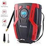 BOSONER Portable Air Compressor Pump, Tire Inflator, 12V DC Portable Air Compressor for Car Tires with LED Light for Car, Auto Shut-Off, Motorcycle, Bicycle, Balls and Other Inflatable Equipment