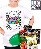 JJCkids Camiseta para niños con diseño de Huevo Sorpresa Gigante con pájaros de...