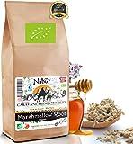 Nabür - Tisane Racine de Guimauve BIO 200 Gr ⭐ Tisane Reflux Gastrique, Détox, Digestion, Transit, Tisane Remontée d'acide 🌿 Favorise la lactation, Tisane Allaitement BIO
