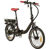 REMINGTON City Folder 20 Zoll Faltrad E-Bike Klapprad Pedelec StVZO Elektrofaltrad, Farbe:Schwarz