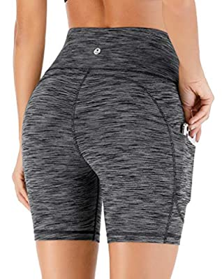 IUGA Yoga Shorts Workout Shorts for Women with Pockets High Waisted Biker Shorts for Women Running Shorts with Side Pockets