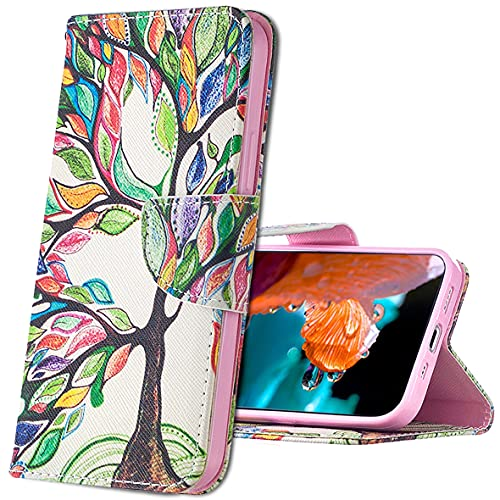 MRSTER Nokia 3310 Hülle Leder, Langlebig Leichtes Klassisches Design Flip Wallet Hülle PU-Leder Schutzhülle Brieftasche Handyhülle für Nokia 3310. BF Tree of Life