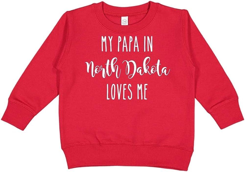 Toddler//Kids Sweatshirt My Papa in North Dakota Loves Me