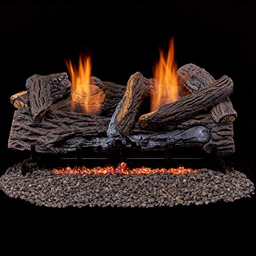 Duluth Forge Ventless Propane Gas Log Set-24 in...