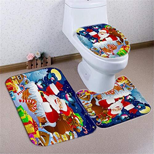 OUY Duschvorhänge Gemusterte wasserdicht Duschvorhang Weihnachtsmann Duschvorhang Badezimmer Dekoration (Color : Carpet, Size : 180x180cm)