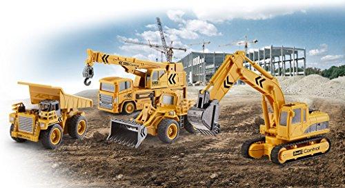 RC Baufahrzeug kaufen Baufahrzeug Bild 1: Revell Control 23496 RC Baufahrzeug Schaufelbagger mit Kettenantrieb, 27MHz, Akku ferngesteuertes Auto, gelb-orange, 12 cm*