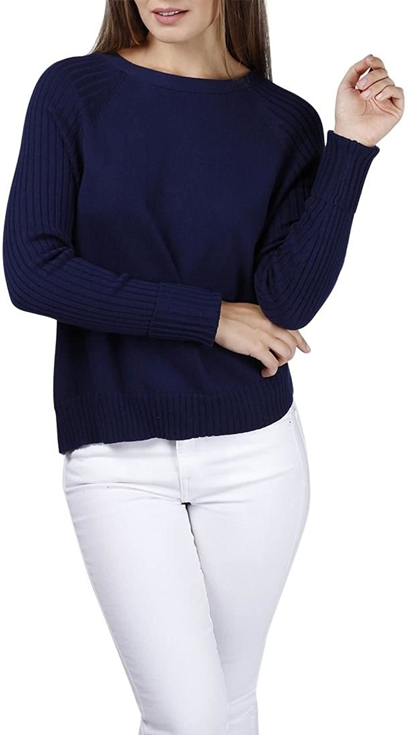 Central Park West  Mariposa lace back sweater  Navy