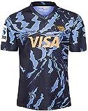 LQWW Maillot de rugby Jaguar Away pour homme - T-shirt tissé brodé - Respirant - Séchage rapide - Couleur : A - Taille : 4XL