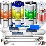 iSpring F31KU75 3-Year Set for 7-Stage UV Alkaline Reverse Osmosis Water Filter Fits RCC7AKUV, 31Pcs, 10X2.5, white