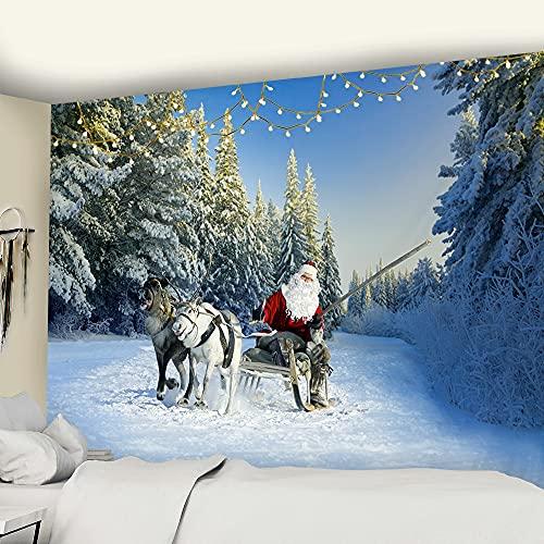 PPOU Mandala de Navidad Tapiz de Pared Hippie fantasía paño de Pared Bohemio decoración del hogar Manta paño de Pared A2 130x150cm