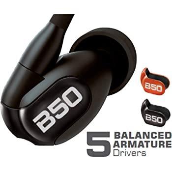 New Westone B50 with Bluetooth Cable Five-Driver True-Fit Earphones with High Definition Silver MMCX Cable