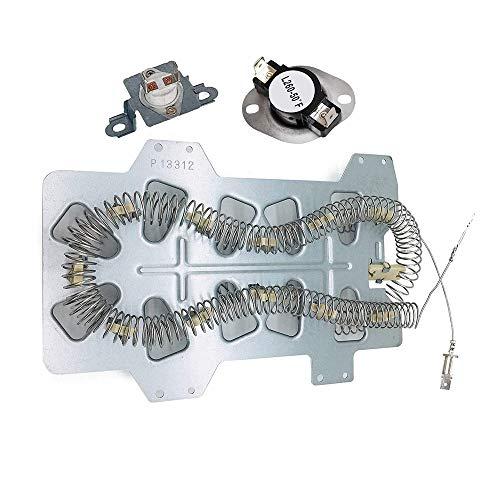Fesjoy DC47-00019A Elemento Calefactor, DC47-00018A Termostato, DC96-00887A Termofusible Aplique al Calentador de la Secadora Samsung Whirlpool Reemplace WP350012247 35001092 503497 DC96-00887C