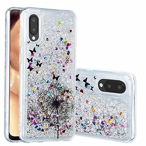 Funda para Samsung Galaxy S20 FE, para niñas y mujeres, con purpurina 3D, diseño de arena movediza, transparente, gel de silicona TPU a prueba de golpes, para Samsung Galaxy S20 FE diente de león