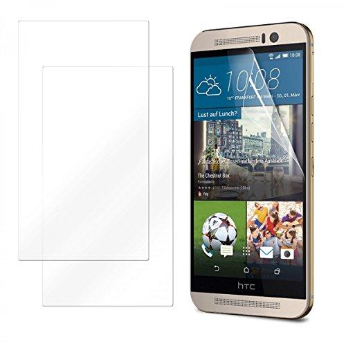 eFabrik 2 x Bildschirmschutzfolie für HTC One M9 & HTC One M9 Prime Camera Edition Schutzfolie Set Smartphone Full-HD Bildschirm Display Anti Beschlag Schutz Folie Klar Transparent
