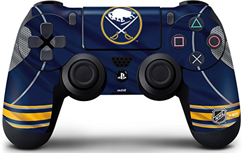 Skinit Decal Gaming Skin for PS4 Controller - Officially Licensed NHL Buffalo Sabres Home Jersey Design