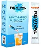 Revival Hydration Electrolyte Powder Packets, Supplement Drink Mix - Sport, Wellness, Travel - Orange 6 Pack