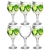 City Gin Ballon Gläser Glas 623/645ml, 6Stück–Copa de Ballon Gin & Tonic Cocktail...
