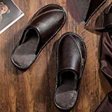 ypyrhh Zapatos de Casa Interior Suave Algodón Zapatilla,Home Furry Slippers, Non-Slip Waterproof Cotton Slippers-Brown_44-45