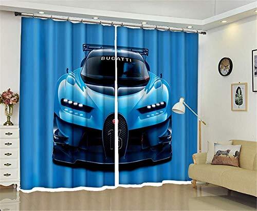 Waniyin Cortinas de Ventanas Cortinas Oscurecidas 3D / 2 Paneles/Dormitorio/Cortinas De Oscurecimiento del Sitio Cubren El Coche De Tamaño Personalizado (Size : 2.64x1.6m)