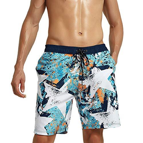 Pantalones Cortos de Playa For Hombre de Gran tamaño Corto Bañador Coloreado...