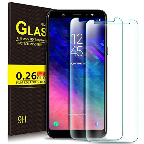 KuGi Ersatz für Galaxy A6 2018 Schutzfolie, 9H Panzerglas Glas Schutzfolie [HD Ultra] [Anti-Kratzer] Displayschutzfolie Für Galaxy A6 2018 smartphone. Klar [2 PACK]