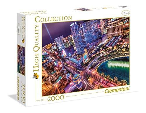 Clementoni 32555 - Puzzle HQC Las Vegas, 2000 Pezzi