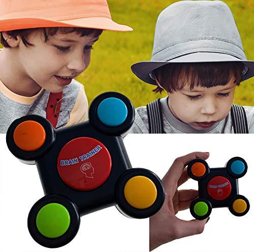 Brain Trainer Mini | Gedächtnistraining für Senioren | Gedächtnistraining für Erwachsene | Gedächtnisspiele für Kinder Spielekonsole | Kinder Memory | Spielekonsole LED Licht und Sound | Lernspielzeug