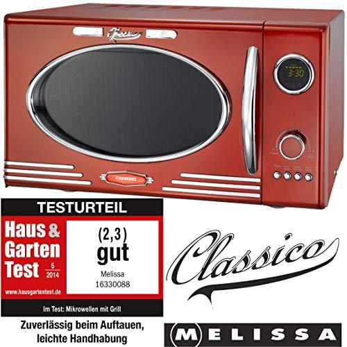 """Melissa Diseño Microondas """"Clásico"""" Retro para su Cocina - Rojo"""