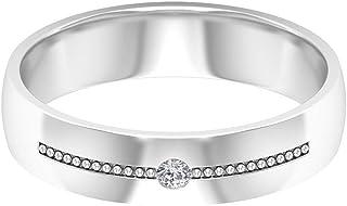 Anillo solitario de moissanita de 2 mm, apilable, anillo de oro simple, anillo de aniversario, oro de 10 quilates