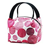 Fatmug Women's Polyester Blend Insulated Pink Lunch Bag with Zip for Picnic