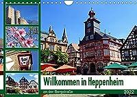 Willkommen in Heppenheim an der Bergstrasse (Wandkalender 2022 DIN A4 quer): Das sehenswerte Heppenheim an der Bergstrasse ist eine von alten Fachwerkhaeusern gepraegte kleine Stadt inmitten von Weinbergen, bewacht von der eindrucksvollen Strahlenburg. (Monatskalender, 14 Seiten )