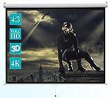 celexon Basic Heimkino- und Business manuell ausziehbare Rollo-Leinwand - einfache Montage und Bedienung - 240 x 180cm - 4:3