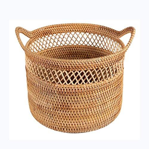 Kaikai Cesta de Almacenamiento de ratán, Cesta de Vientre para Almacenamiento Canasta y lavandería, Picnic y Cesta de comestibles