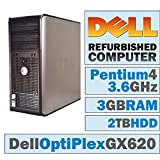 Dell OptiPlex GX 620 MT/Pentium 4 HT 3.6F @ 3.60 GHz/3GB DDR2/2TB HDD/DVD-RW/Windows 7 Home 32 BIT