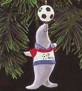 Seal with Soccer Ball on Nose with St. Nick's Team Shirt
