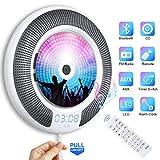Gueray Lecteur CD Portable Bluetooth Mural Haut-Parleur HiFi Intégré Lecteur CD Montage avec Port Audio DE 3,5 mm Clé USB et...