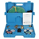 ZENY NEW Portable Gas Welding Cutting Torch Kit w/Hose, Oxy Acetylene Brazing Professional Set with Case
