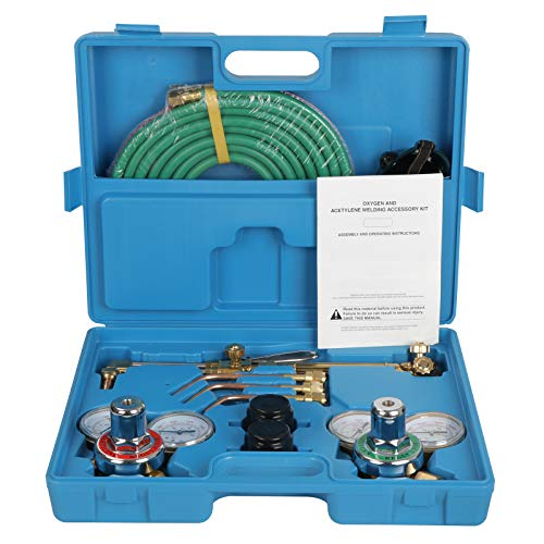 ZENY NEW Portable Gas Welding Cutting Torch Kit w/Hose, Oxy Acetylene Brazing Professional Set with Goggles & Case