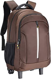 Cooralledtooere Rolling Travel Backpack Waterproof Wheeled Rucksack Laptop Trolley Carry Rolling Backpack,Luggage Suitcase Compact Business Bag Computer Bag for Men Fit 15.6 Inch
