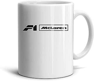 COOLGOOD Free-Transparent-Mclaren-F1-png- Design White Ceramic Mugs Inspirational for Barista Perfect Coffee or Tea Mugs 11 Oz